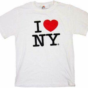 I Love NY Short Sleeve T-Shirt Mens Adult Small